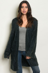 S11-14-2-C70487 DARK GREEN CARDIGAN 4-2