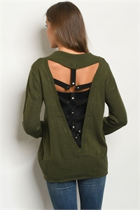 S17-12-5-S70372 OLIVE SWEATER 2-1