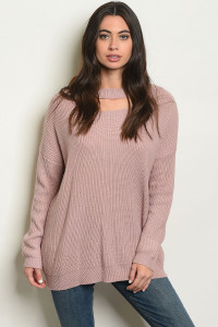 S14-4-2-S70461 MAUVE SWEATER 4-2