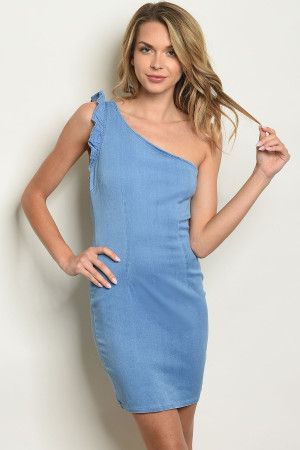 S7-7-3-D0406 BLUE DENIM DRESS 2-2-2