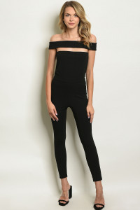 S8-9-4-J5452 BLACK JUMPSUIT 3-2-1