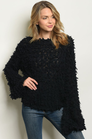 S16-6-2-S1049 BLACK SWEATER 3-2-1