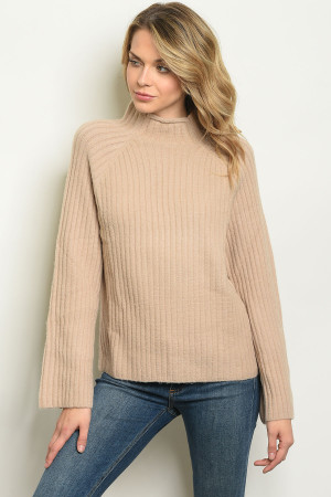S15-5-4-S5593 TAUPE SWEATER 1-2-2-1