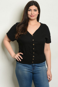 S4-2-4-T9929X BLACK PLUS SIZE TOP 2-2-2