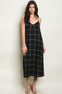 C74-A-4-D5504 BLACK CHECKERED DRESS 2-2-2