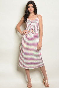 S13-12-1-D112551 CREAM STRIPES DRESS 2-2-2
