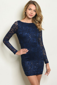 S17-10-5-D22958 NAVY WITH SEQUINS DRESS 1-1-1