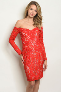 S11-4-4-D25070 RED NUDE DRESS 2-2-2