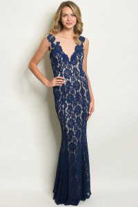 S11-5-2-D24824 NAVY NUDE DRESS 2-2-2
