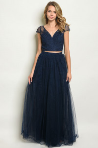 S12-4-1-SET90182 NAVY TOP & SKIRT SET 2-2-2