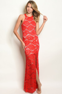 S18-13-5-D23694 RED NUDE DRESS 2-2-2