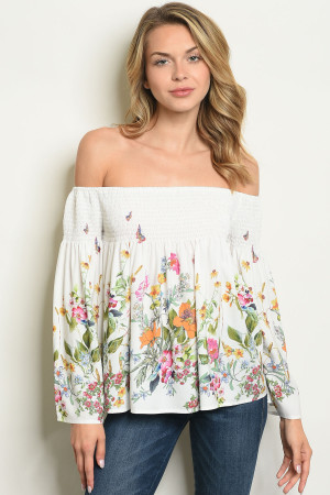 S23-12-2-T10238 OFF WHITE FLORAL TOP 5-1
