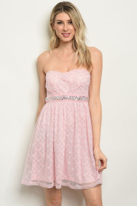 C16-A-5-D1026 PINK WITH SHIMMER DRESS 2-2-2