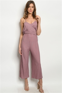 S19-3-3-J1744 MAUVE STRIPES JUMPSUIT 3-2-1