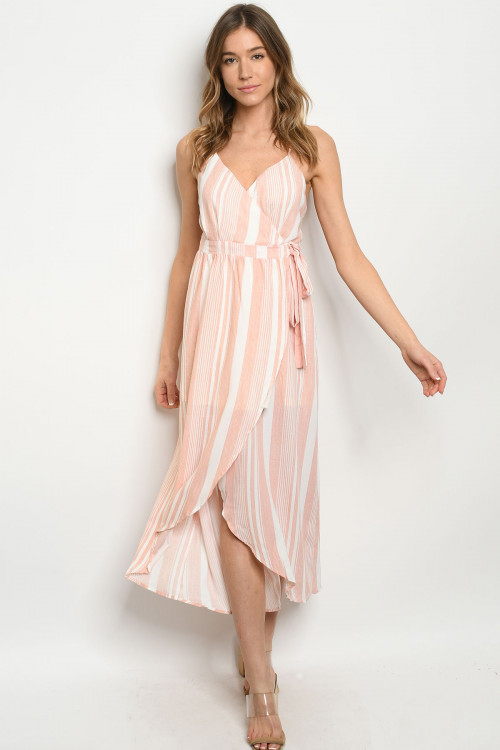 S7-10-1-D4169 IVORY PINK STRIPES DRESS 1-1-2-2-1