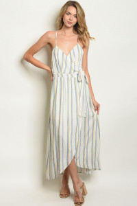 S10-13-1-D4169 IVORY BLUE STRIPES DRESS 1-1-2-2-1