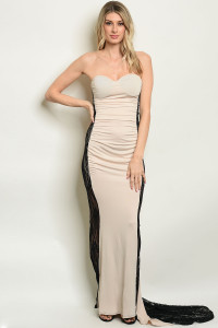 S15-1-1-D7114 TAN BLACK DRESS 2-2-2