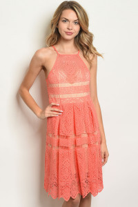 S17-8-1-D8581 CORAL NUDE DRESS 1-1-1