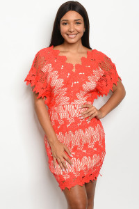 S2-4-1-D16840 RED NUDE DRESS 2-2-2