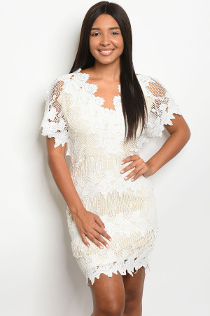 S9-15-1-D16840 WHITE NUDE DRESS 3-2-1