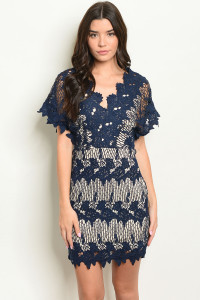 S2-5-4-D16840 NAVY NUDE DRESS 2-2-2