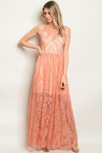 S22-13-3-D1696 PEACH BLUSH DRESS 1-2-2