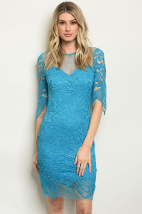 S23-12-5-D1494 TURQUOISE DRESS 2-2-2