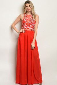 S10-16-2-D7872 RED EMBROIDERY DRESS 3-2-3