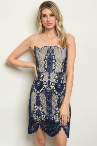 S20-10-3-D16854 NAVY NUDE DRESS 2-2-2