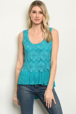 S9-16-2--T8654 TEAL TOP 1-2-2