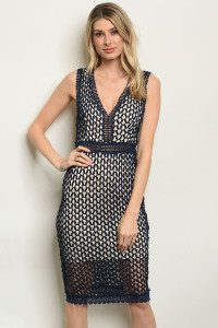 S3-5-2-D16553 NAVY NUDE DRESS 2-2-2