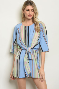 S9-16-3-R59519 BLUE STRIPES ROMPER 1-2