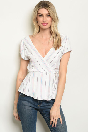 S9-16-3-T51689 OFF WHITE STRIPES TOP 2-3-3
