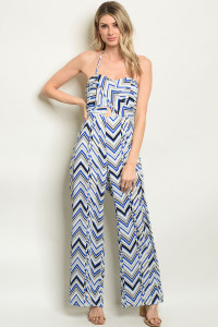 S8-7-4-J59515 OFF WHITE BLUE JUMPSUIT 2-2-2