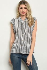 S7-2-4-T32430 BLACK STRIPES TOP 2-2-2