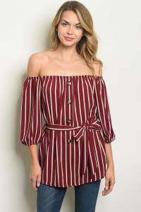 C25-A-7-T51074 BURGUNDY IVORY TOP 2-2-2