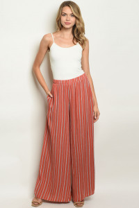 S8-6-3-P70010 BRICK STRIPES PANTS 2-2-2