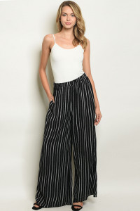 S8-6-3-P70010 BLACK STRIPES PANTS 2-2-2