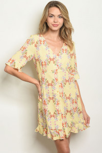 S22-5-1-D10222 YELLOW FLORAL DRESS 2-2-2
