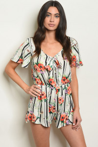 C51-A-1-R1960 IVORY FLORAL ROMPER 1-2