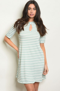 C36-A-2-D743 SAGE STRIPES DRESS 2-2-2