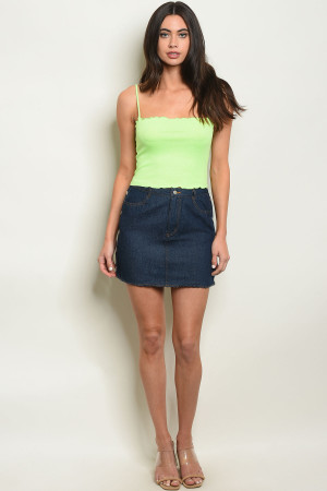 S7-3-1-S80340 DARK DENIM SKIRT 1-2-2-1