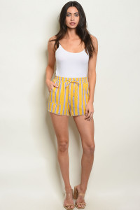S14-12-1-NA-S80132 YELLOW STRIPES SHORT 1-2-1