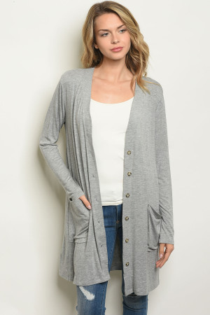 S16-9-3-C1044 LIGHT GRAY CARDIGAN 2-2