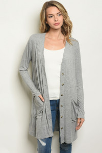 S18-10-2-C1044 LIGHT GRAY CARDIGAN 1-4-1