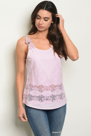 S10-7-4-T1199 LILAC EMBROIDERY TOP 2-2-2