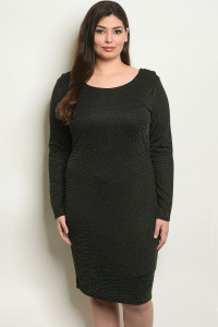 C14-A-6-D0758X BLACK GOLD PLUS SIZE DRESS 2-2-2