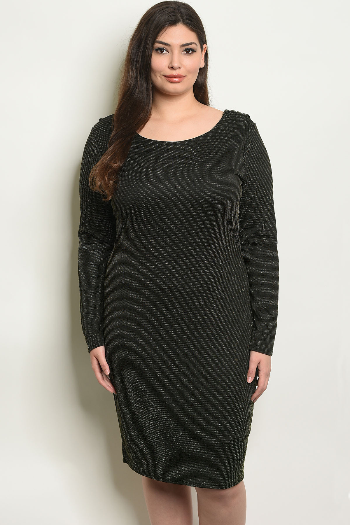 C14-A-6-D0758X BLACK GOLD PLUS SIZE DRESS 2-2-2 ***WARNING: California  Proposition 65***