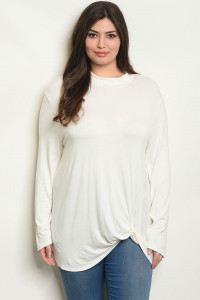 S22-12-6-T1048X WHITE PLUS SIZE TOP 2-2-2