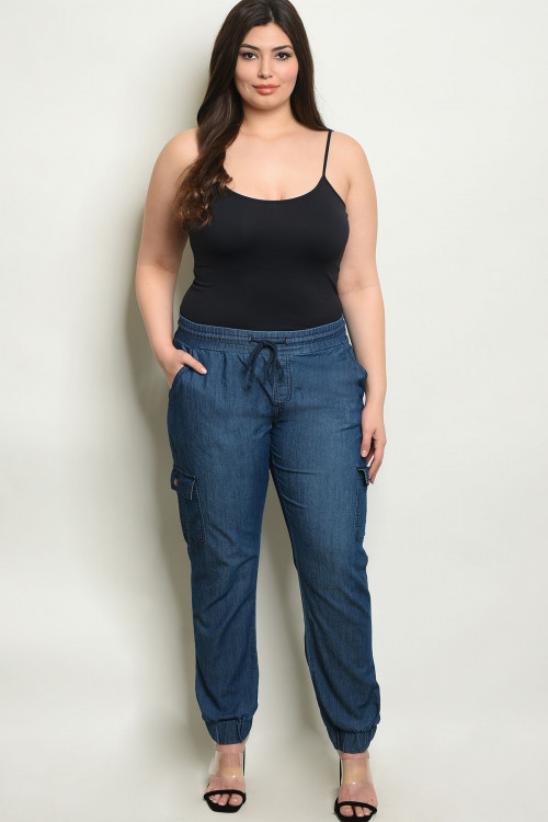 S21-5-1-P6508X BLUE DENIM PLUS SIZE PANTS 2-2-2